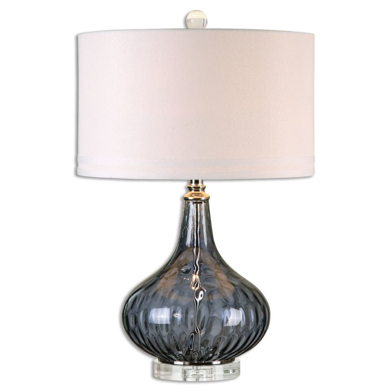 Uttermost 26611-1 Sutera 1 Light Table Lamp Transparent Blackcurrant