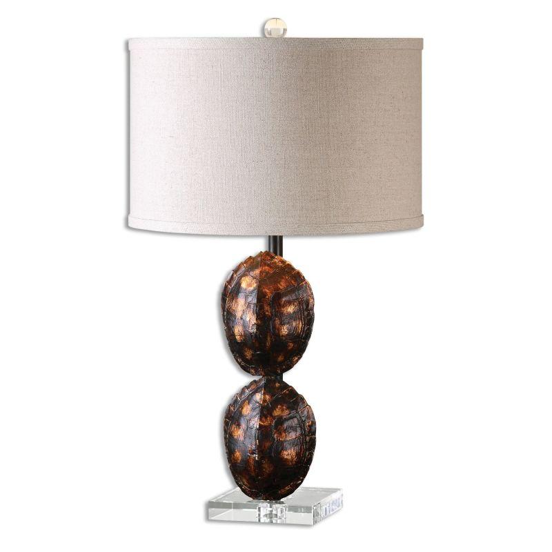 Uttermost 26649-1 Awanata 1 Light Table Lamp Heavily Blackened Gold Sale $215.60 ITEM: bci2612220 ID#:26649-1 UPC: 792977266496 :