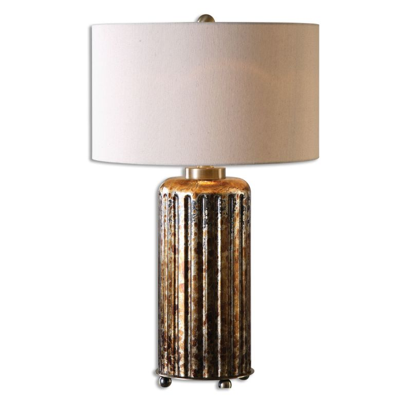 Uttermost 26909-1 Slavonia 1 Light Table Lamp Mottled Rust Bronze Sale $217.80 ITEM: bci2612242 ID#:26909-1 UPC: 792977269091 :
