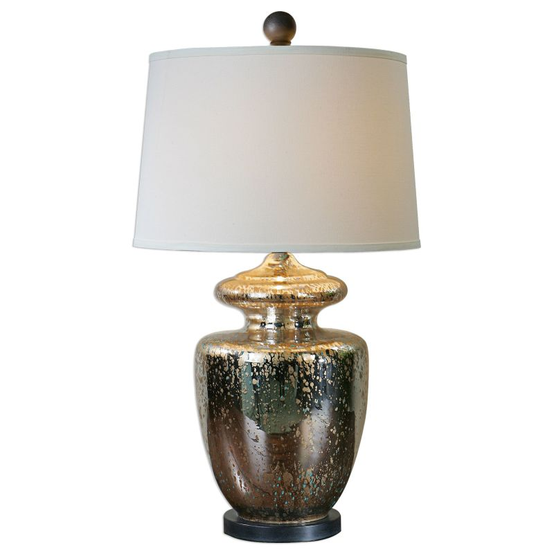 "Uttermost 27167 Ailette Single Light 33"" High Table Lamp with White"