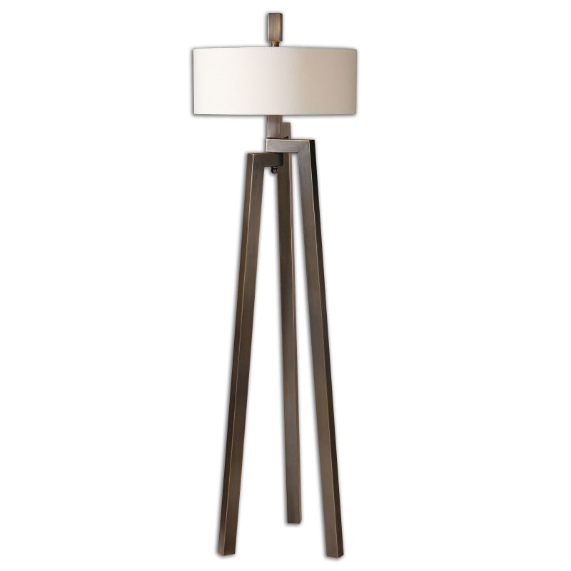 Uttermost 28253-1 Mondovi 2 Light Floor Lamp Antiqued Brushed Bronze