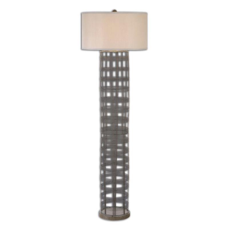 Uttermost 28256 Engel 1 Light Floor Lamp Dark Rustic Bronze Lamps