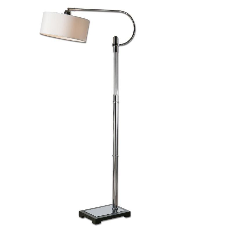 Uttermost 28594-1 Adara Swing Arm Floor Lamp with White Drum Shade Sale $305.80 ITEM: bci2357587 ID#:28594-1 UPC: 792977285947 :