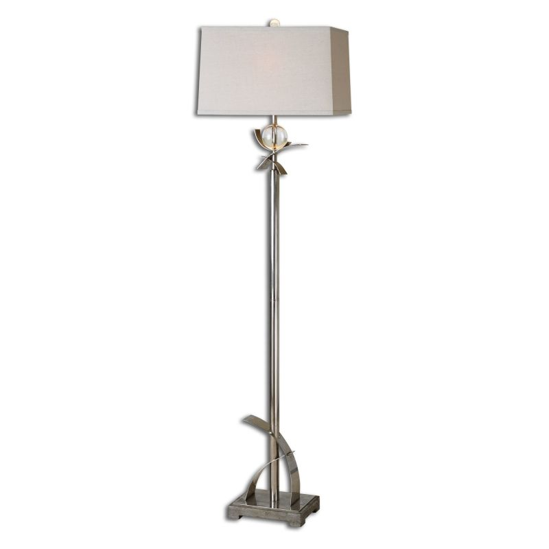 Uttermost 28723 Cortlandt 1 Light Floor Lamp Antiqued Silver with Sale $301.40 ITEM: bci2548670 ID#:28723 UPC: 792977287231 :