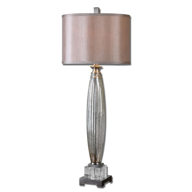 Uttermost 29342-1 Loredo Table Lamp with Cylinder Shade Glass and