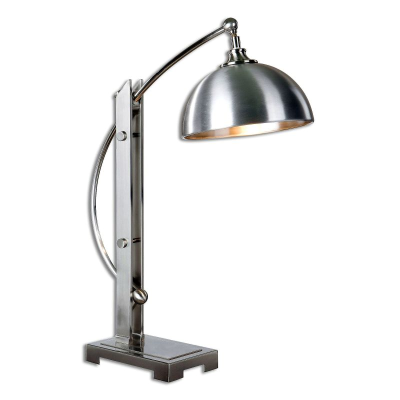 "Uttermost 29586-1 Malcolm Single Light 28"" Tall Desk Lamp with Nickel"