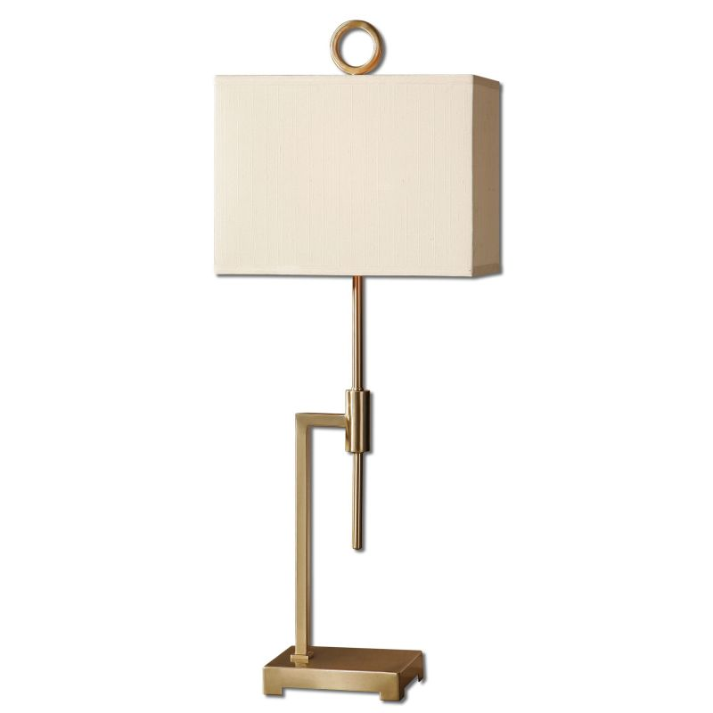 Uttermost 29943-1 Feldon Table Lamp with Square Shade Brushed Bronze