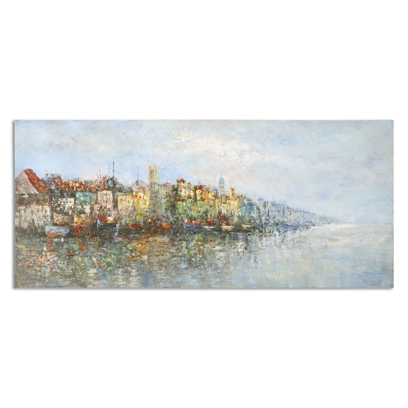 """Uttermost 31308 Overlooking The Sea 26"""" x 60"""" Canvas Wall Art Canvas"""