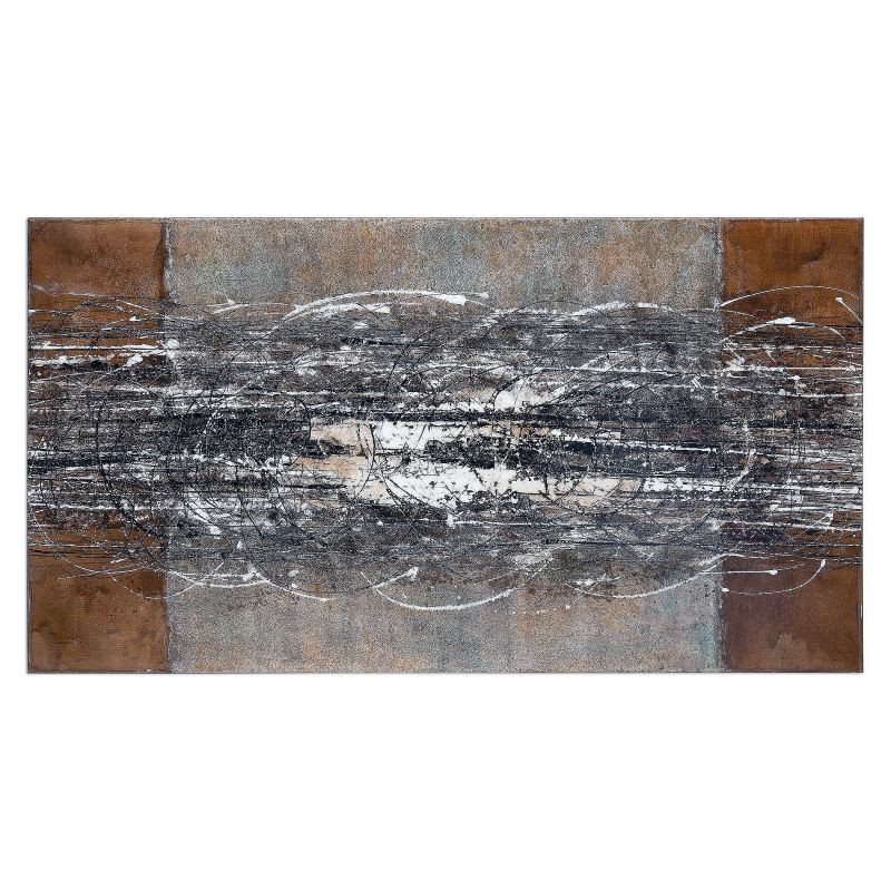 """Uttermost 34307 Frantic 38"""" x 70"""" Canvas Art Hand Painted Canvas Home"""