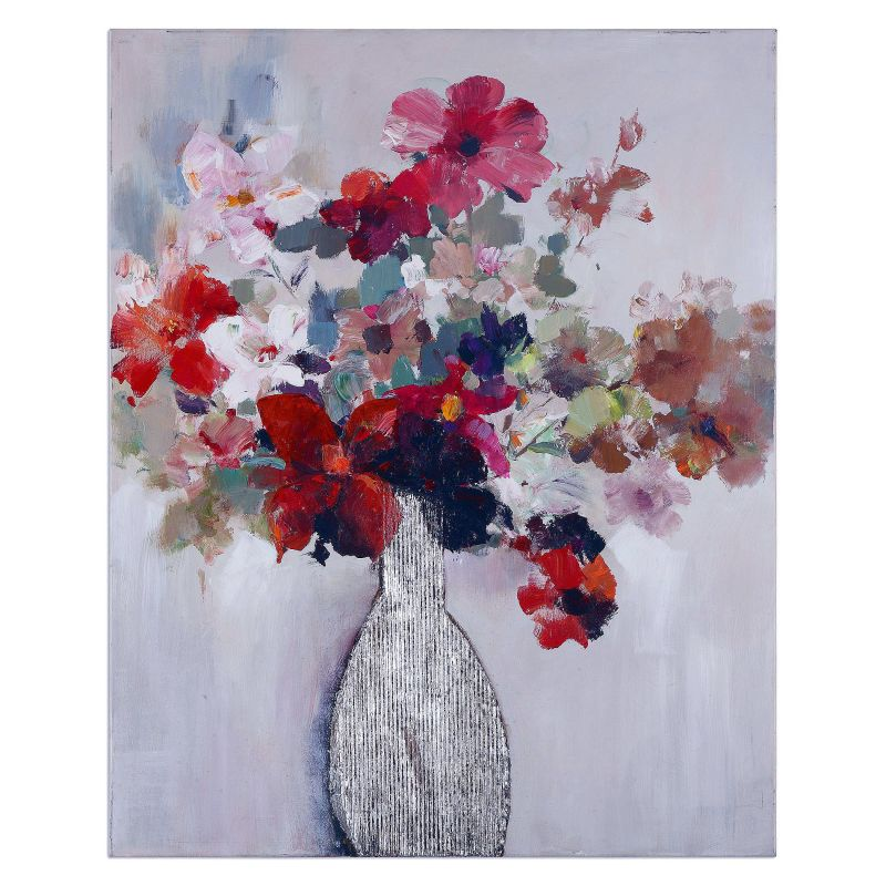 "Uttermost 36108 Cut Flower Bouquet 50"" x 40"" Canvas Art Hand Painted"