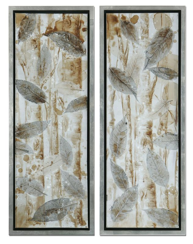 Uttermost 41412 Pressed Leaves Set of 2 Artwork Reproduction Home