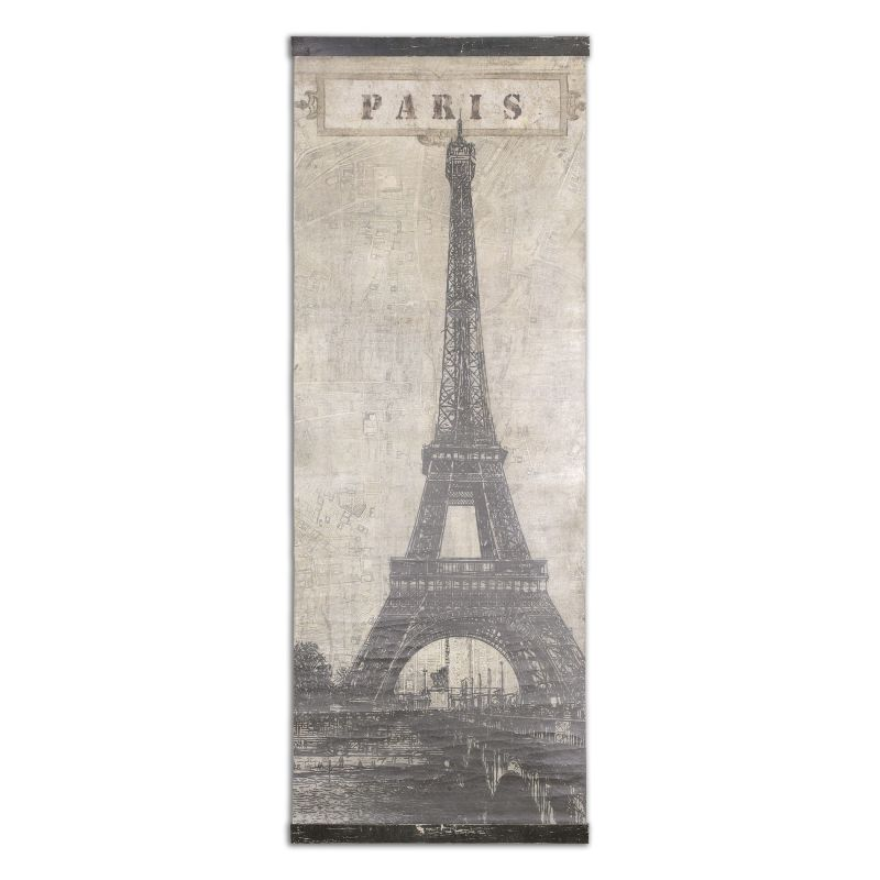 Uttermost 55017 Eiffel Tower Paris Canvas Wall Art Artwork