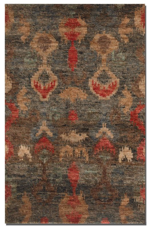 Uttermost 70006 Java Hand Knotted Jute Rug Aged Charcoal 9 x 12 Home