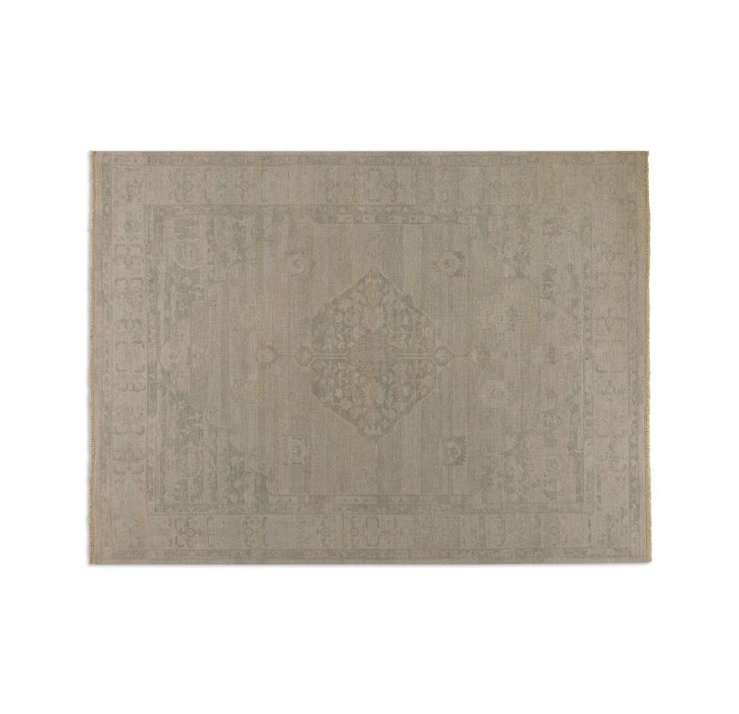 Uttermost 70013 Malatya Hand Knotted Wool Rug Beige / Gray 9 x 12 Home