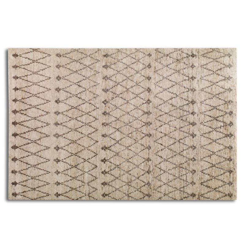 Uttermost 70019 Omar Hand Knotted Hemp Rug Rust Beige and Warm Gray 6