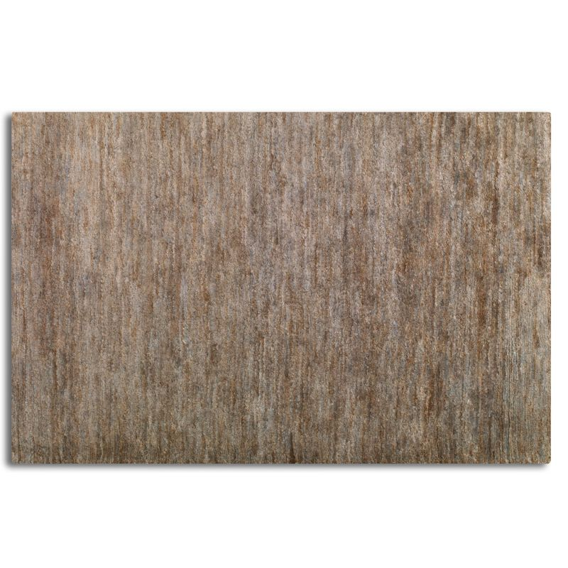 Uttermost 70022 Mounia Hand Knotted Hemp Rug Brown and Rust Blue 6 x 9