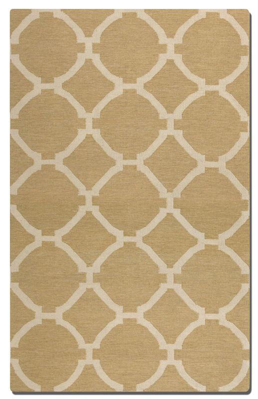 Uttermost 71019 Bermuda Flat Weave Wool Rug Wheat 8 x 10 Home Decor