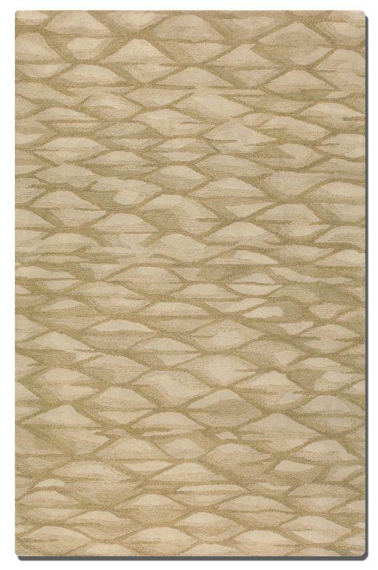 Uttermost 73005 Berkane Hand Tufted Wool Rug Golden Beige 5 x 8 Home