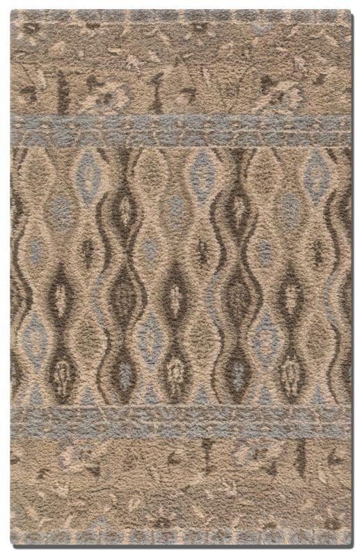 Uttermost 73008 Cadiz Hand Tufted Wool Shag Rug Khaki 5 x 8 Home Decor