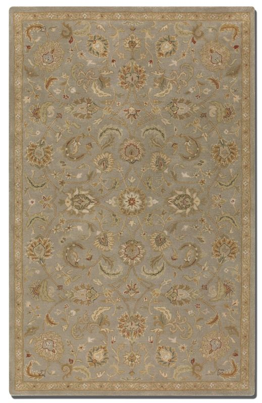 Uttermost 73024 Torrente Hand Tufted Wool Rug Light Gray 8 x 10 Home