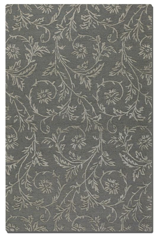 Uttermost 73026 Licata Hand Tufted Wool Rug Blue-Gray 5 x 8 Home Decor