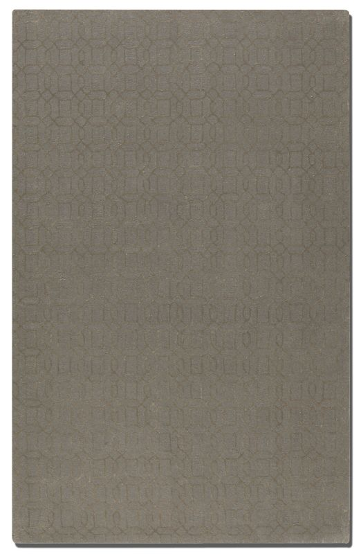 Uttermost 73027 Cambridge Hand Tufted Wool Rug Warm Gray 5 x 8 Home