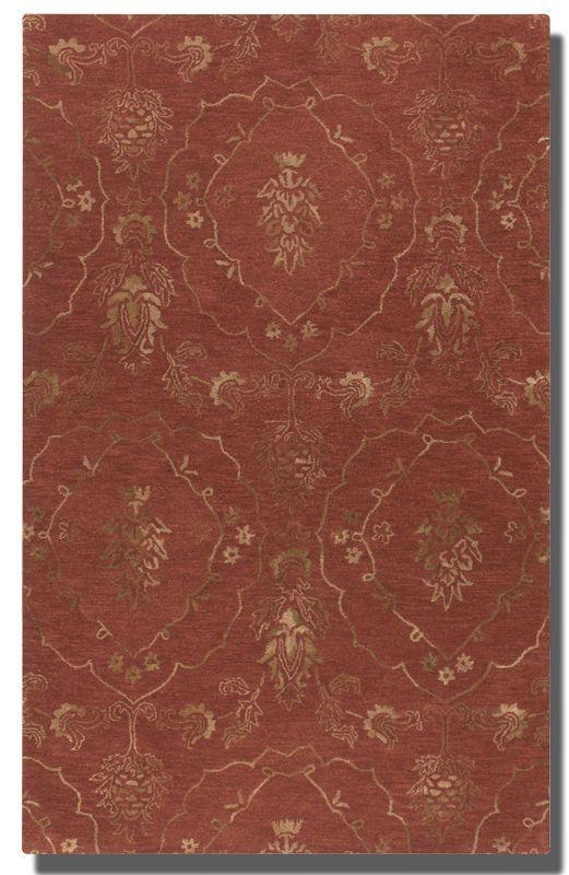 Uttermost 73044 Geneva Hand Tufted Wool Rug Crimson 5 x 8 Home Decor