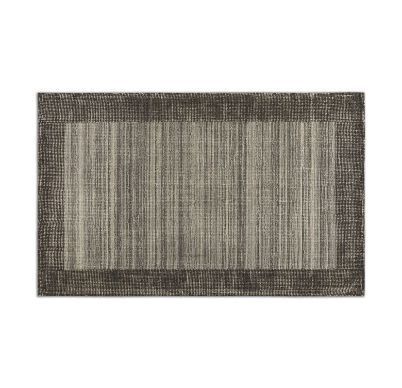 Uttermost 73049 Zell Hand Loomed Wool Rug Gray 5 x 8 Home Decor Rugs
