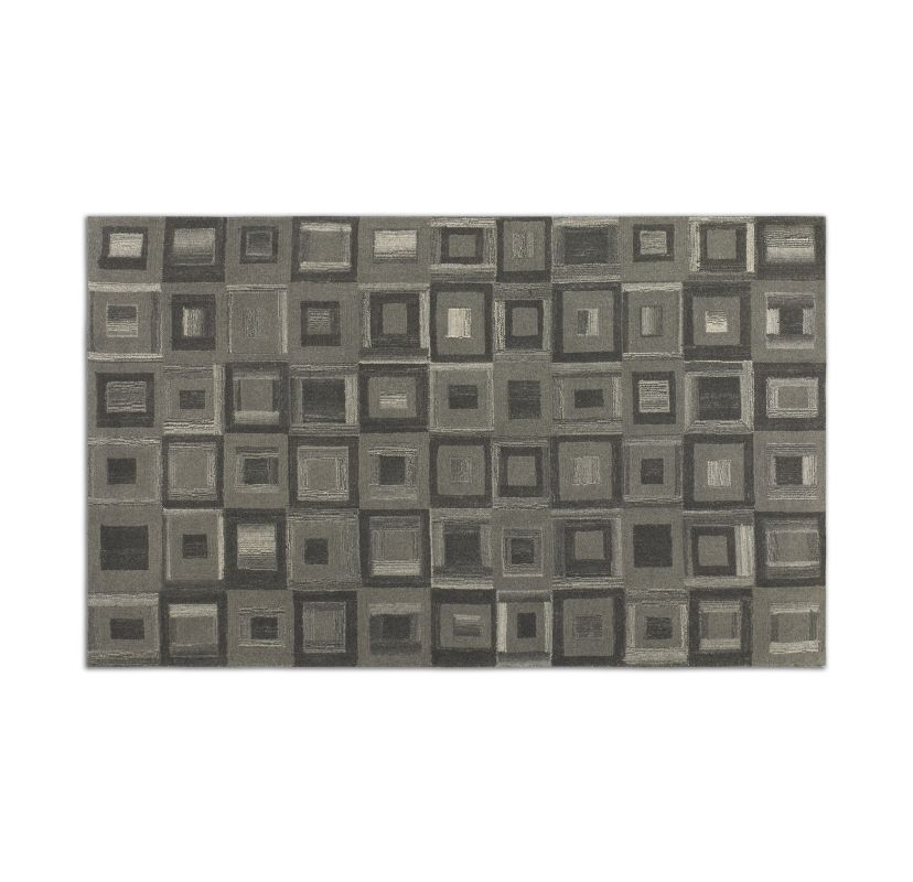 Uttermost 73054 Matrice Low Cut Wool Rug Gray 8 x 10 Home Decor Rugs