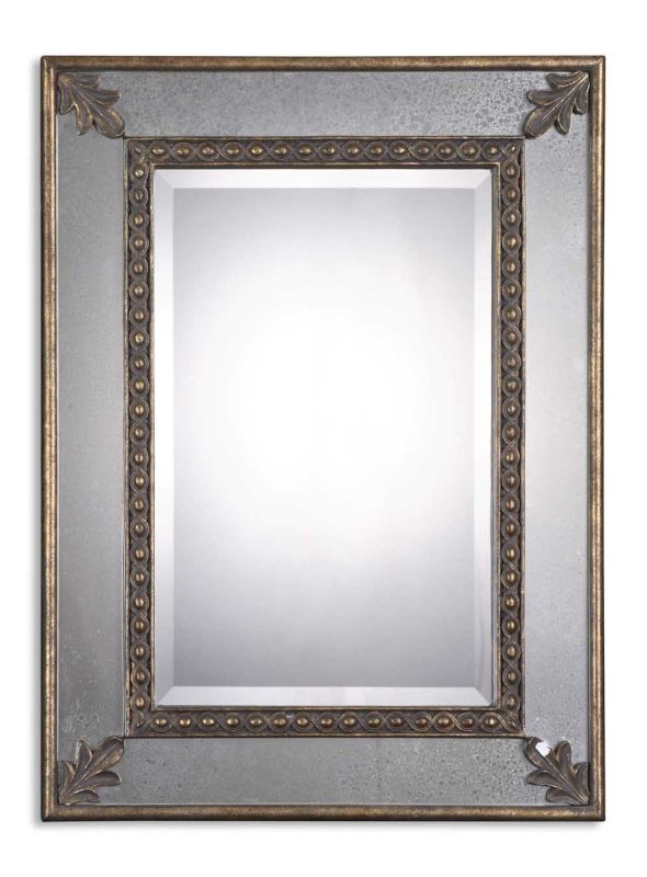 Uttermost 08056 B Michelina Mirror Antique Gold Leaf Home Decor