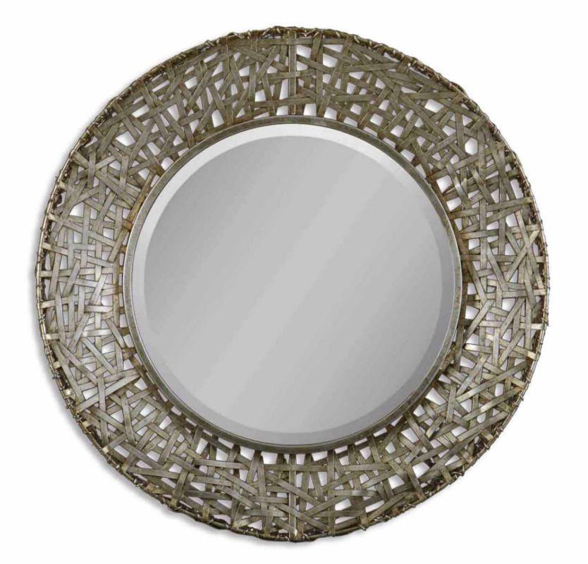 "Uttermost 11603 B 32"" Round Mirror with Beveled Mirror and Antique"