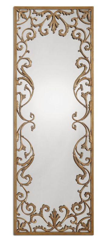 Uttermost 12814 Apricena Mirror Antique Gold Leaf Home Decor Lighting