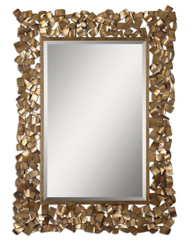 Uttermost 12816 Capulin Mirror Antique Gold Leaf Home Decor Lighting