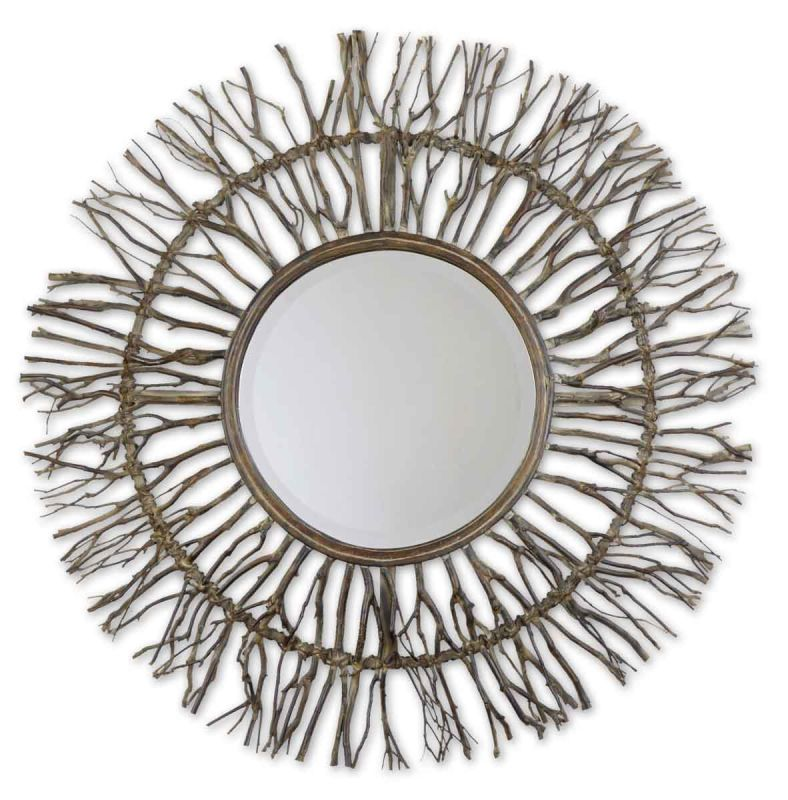 Uttermost 13705 Josiah Mirror Natural Wood Home Decor Lighting