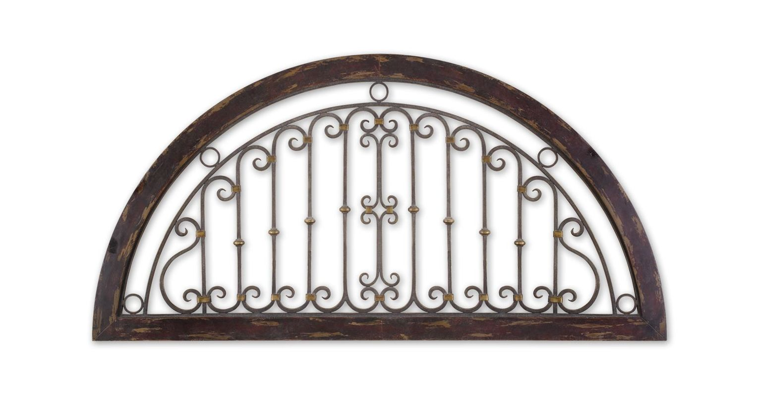 Uttermost 13713 Calabria Wall Art Distressed Dark Red Home Decor Wall