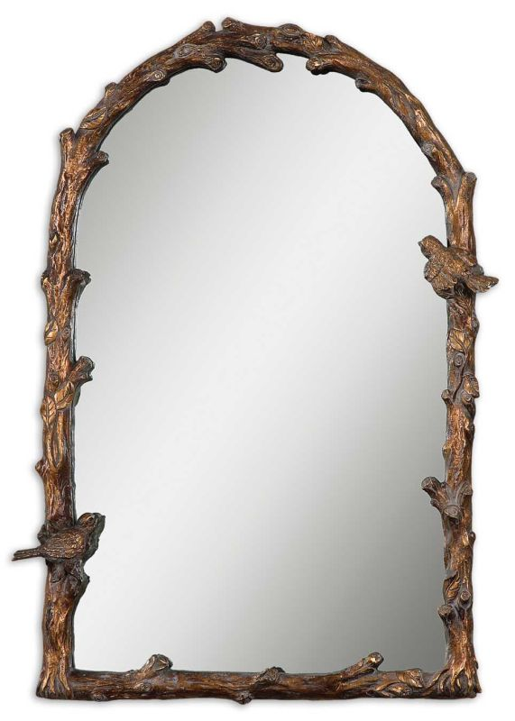 Uttermost 13774 Paza Arch Mirror Antique Gold Leaf Home Decor Lighting