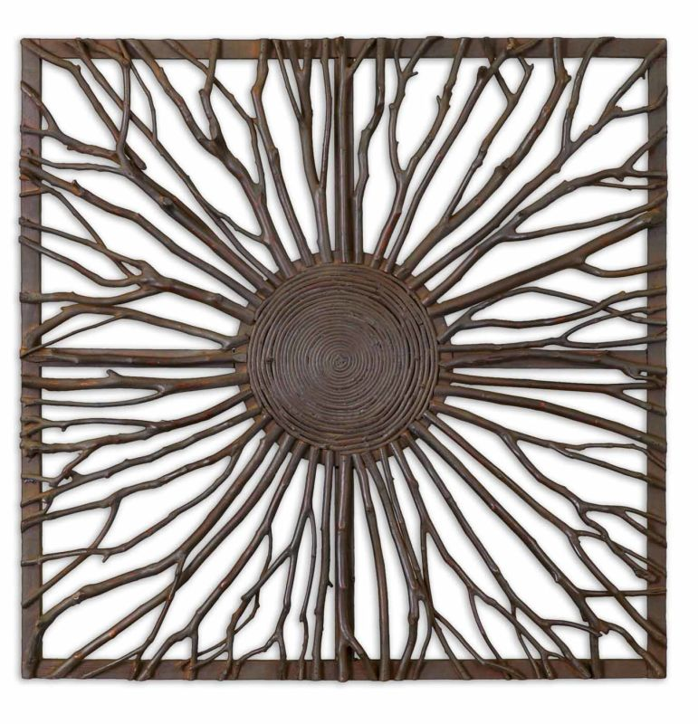 Uttermost 13777 Josiah Square Wall Art Natural Wood Home Decor Wall