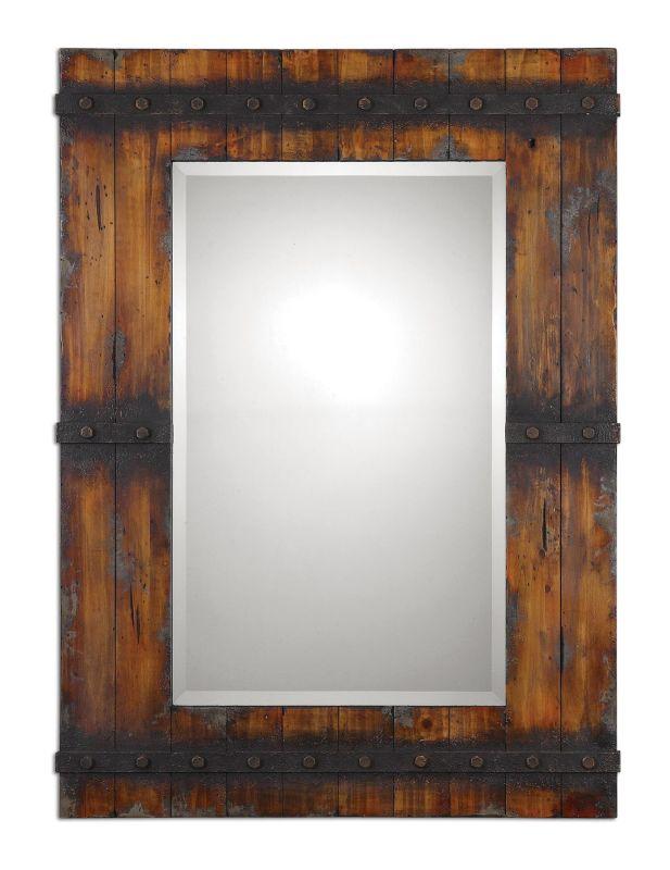 Uttermost 13804 Stockley Mirror Antique Mahogany Home Decor Lighting