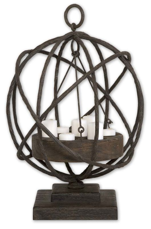 Uttermost 17059 Sammy Candleholder Natural Wood Home Decor Candle