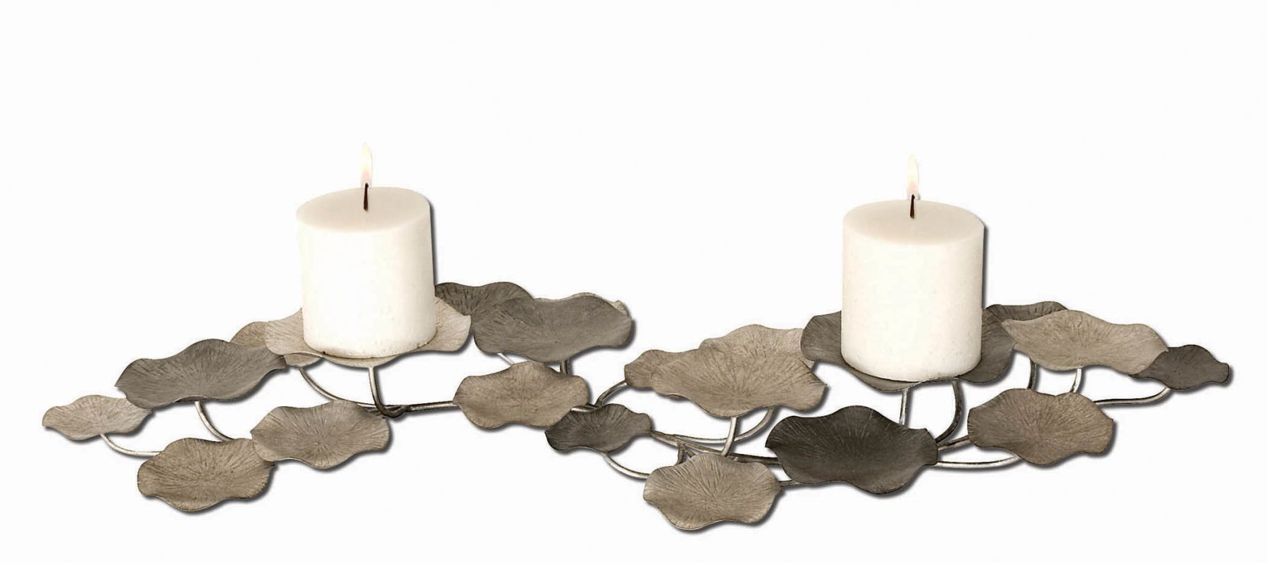 Uttermost 17079 Lying Lotus Candleholder Champagne Silver Home Decor