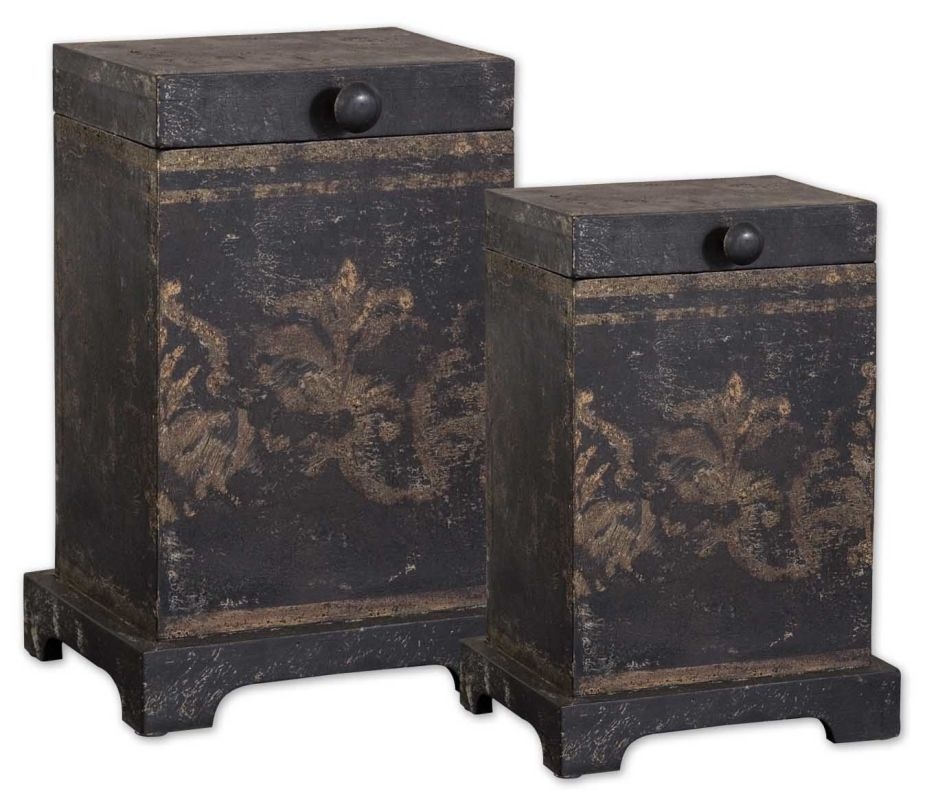 Uttermost 19320 Melani Boxes Set of 2 Natural Wood Home Decor Boxes