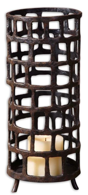 Uttermost 19368 Arig Candleholder Aged Black Home Decor Candle Holders Sale $138.60 ITEM: bci1946466 ID#:19368 UPC: 792977193686 :