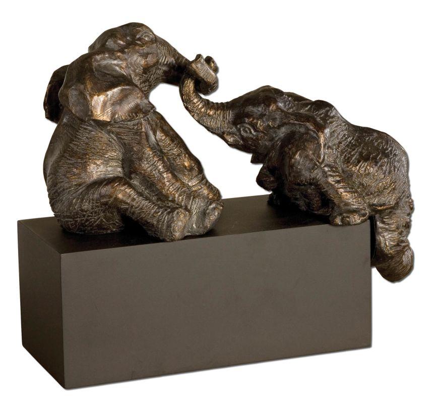 Uttermost 19473 Playful Pachyderms Antique Bronze Home Decor Statues &