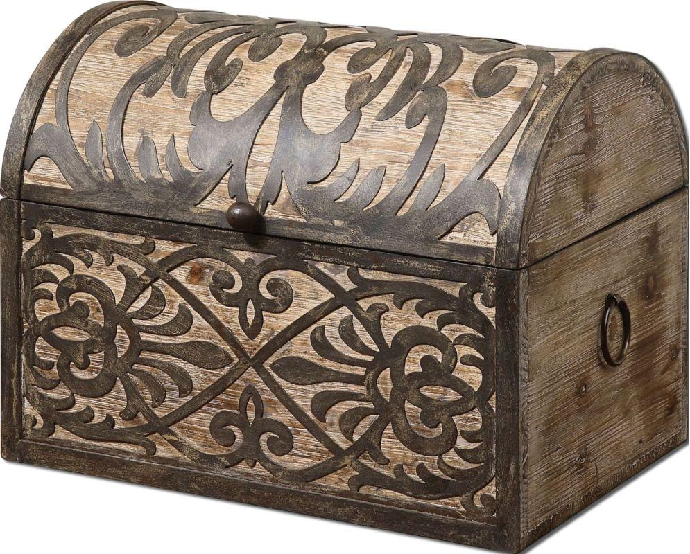Uttermost 19709 Abelardo Decorative Box Rustic Wood Home Decor Boxes
