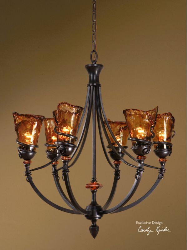 Uttermost 21227 Vitalia Six Light Up Lighting Chandelier Designed by