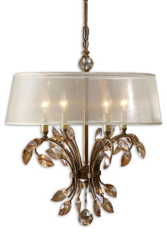 Uttermost 21245 Alenya 4 Lt Chandelier Burnished Gold Indoor Lighting