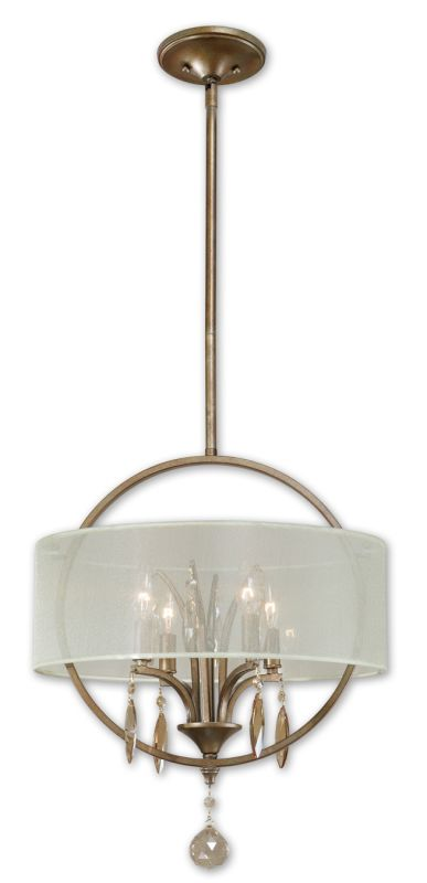 Uttermost 21962 Alenya 4 Lt Pendant Burnished Gold Indoor Lighting