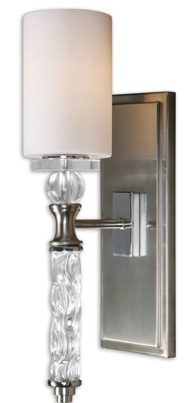 Uttermost 22486 Campania 1 Lt Wall Sconce Brushed Nickel Indoor