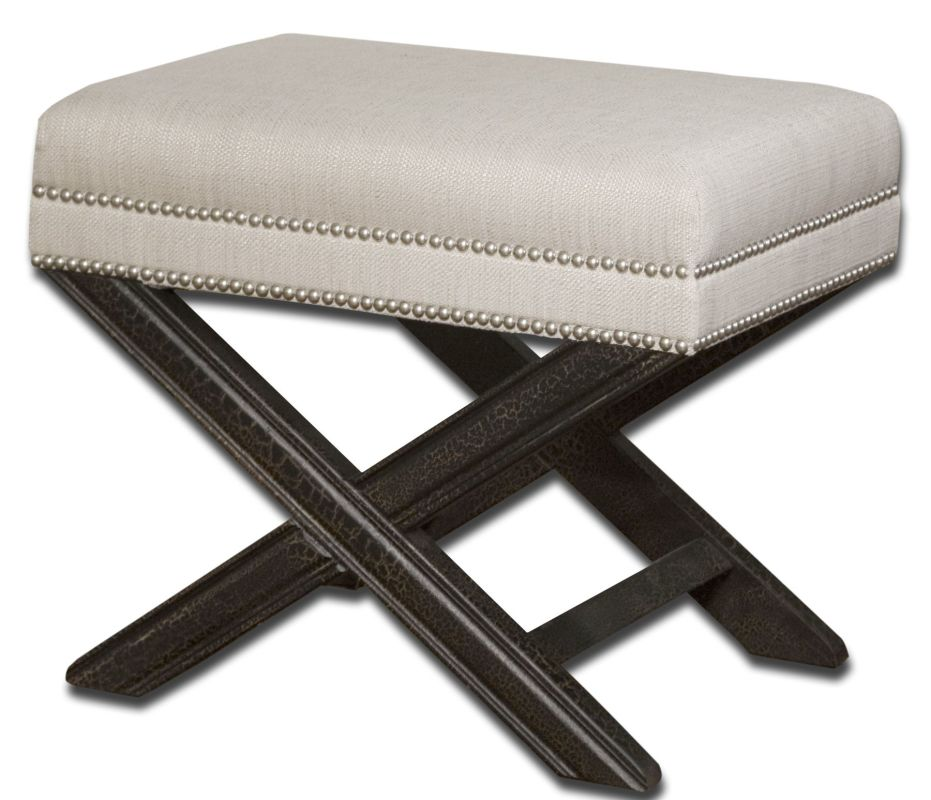 Uttermost 23076 Viera Small Bench Sandy White Furniture Benches