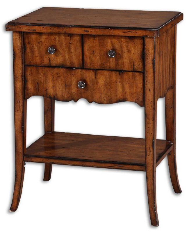 Uttermost 24140 Carmel End Table Natural Wood Furniture End Tables